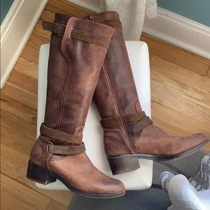 UGG Brown Leather Riding Boots